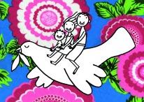 postal da saúde - cultura da paz