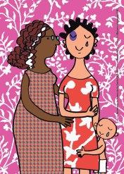 postal da saúde: violência contra a mulher