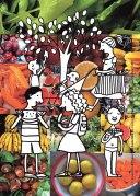 postal da saúde: alimentação saudável