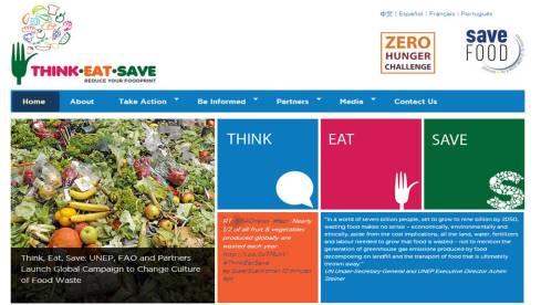 O portal da campanha traz referências para reflexão, dicas de alimentação e contra o desperdício.