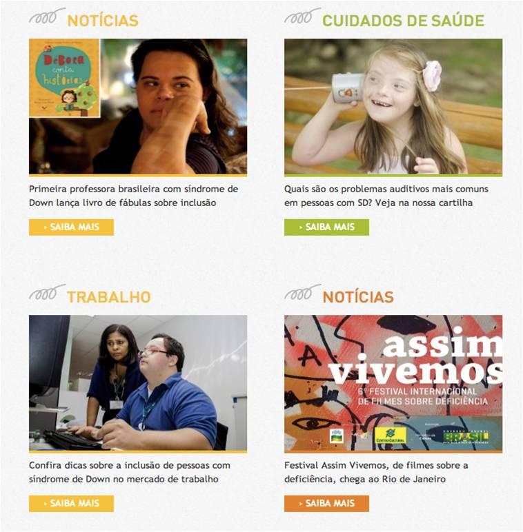 O portal do Movimento Down: informação para promover a saúde e a cidadania das pessoas com síndrome de Down