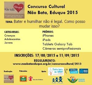 Convite Concurso Cultural RNBE 2015