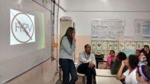 Palestra sobre HPV para alunas de 9 a 13 anos