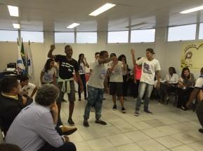 Jovens do RAP da Saúde da CAP 3.2 se apresentando