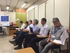 Representantes da FNP e profissionais da SMS
