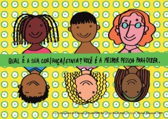 Postal da diversidade étnico-racial (frente)