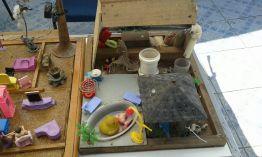Maquete que demonstra os possíveis focos em uma residência