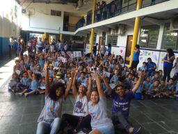 RAP da Saúde junto com os alunos do Colégio Barcelos