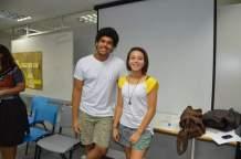 Lia Fernandes e Renan Oliveira, integrantes do RAP da Saúde