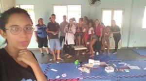 RAP da Saúde CAP 3.1 e profissionais da C.F. Zilda Arns na Roda de Conversa sobre DST e AIDS no Cond. das Palmeiras